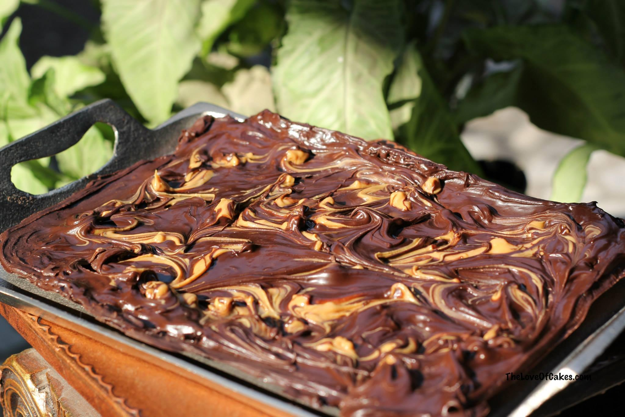 Chocolate and peanut butter swirl Bark | The Love Of Cakes