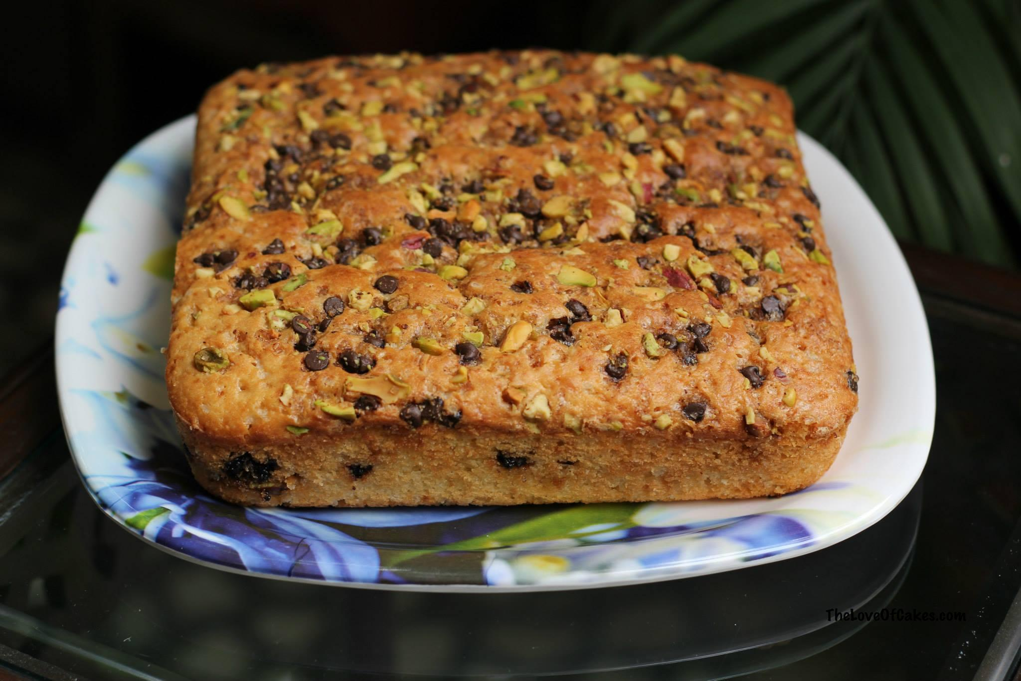 Coffee Cake with a Pistachio Streusel