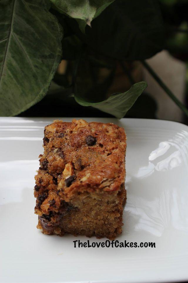 Banana Chocolate Streusel Cake