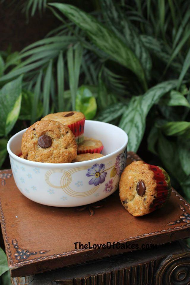 Chocolate button muffins