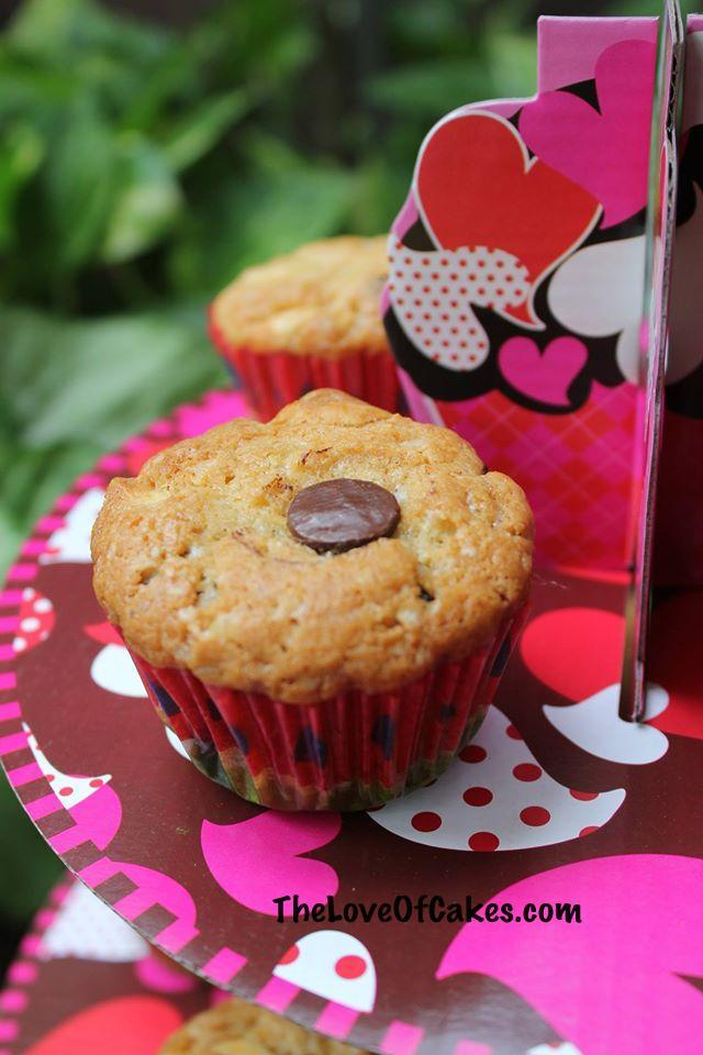 Chocolate button muffins