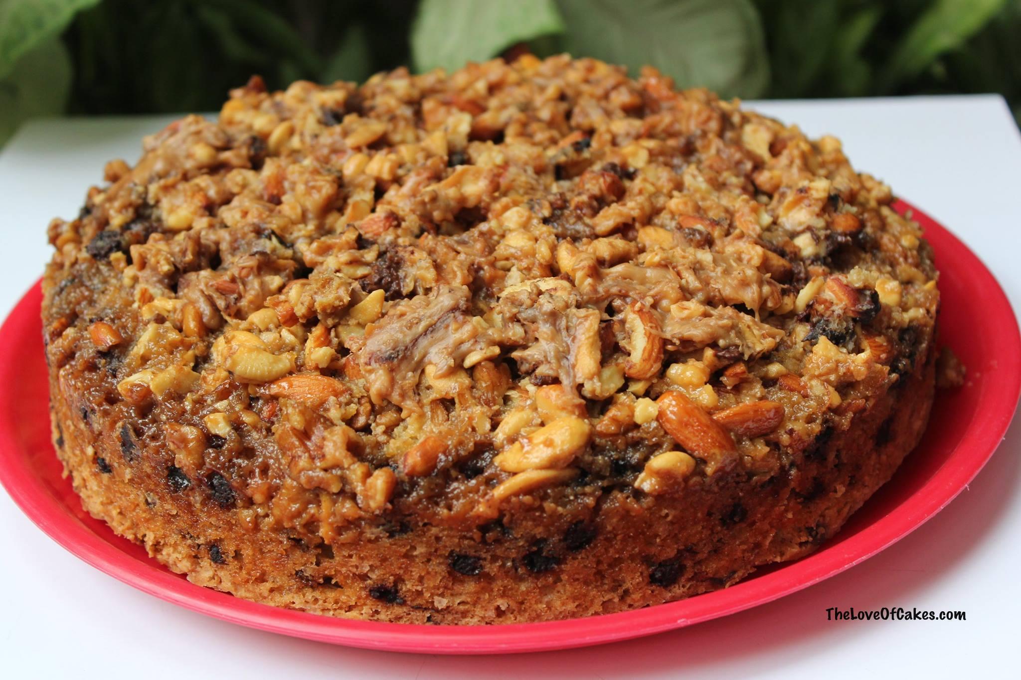 Chocolate Chip Praline Cake