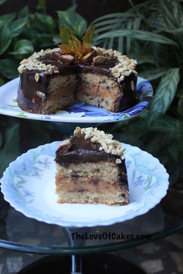 Peanut Butter Cake Caramel Filling