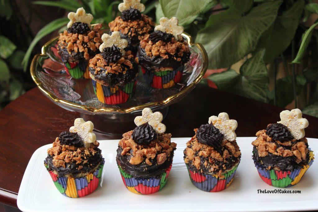 Chocolate Crunch Cupcakes
