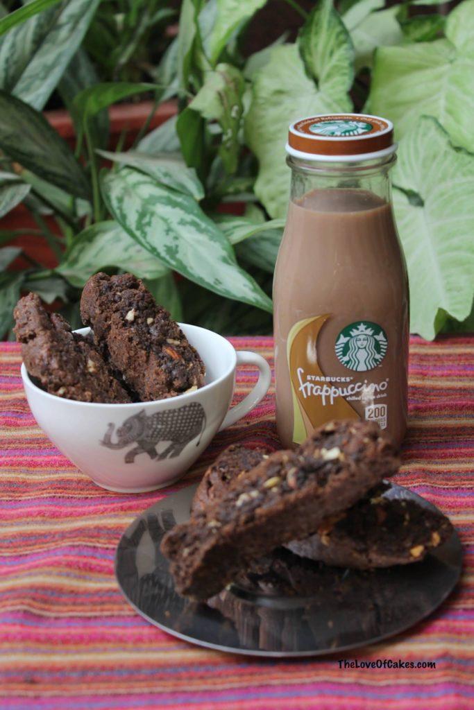 chocolate walnut biscotti
