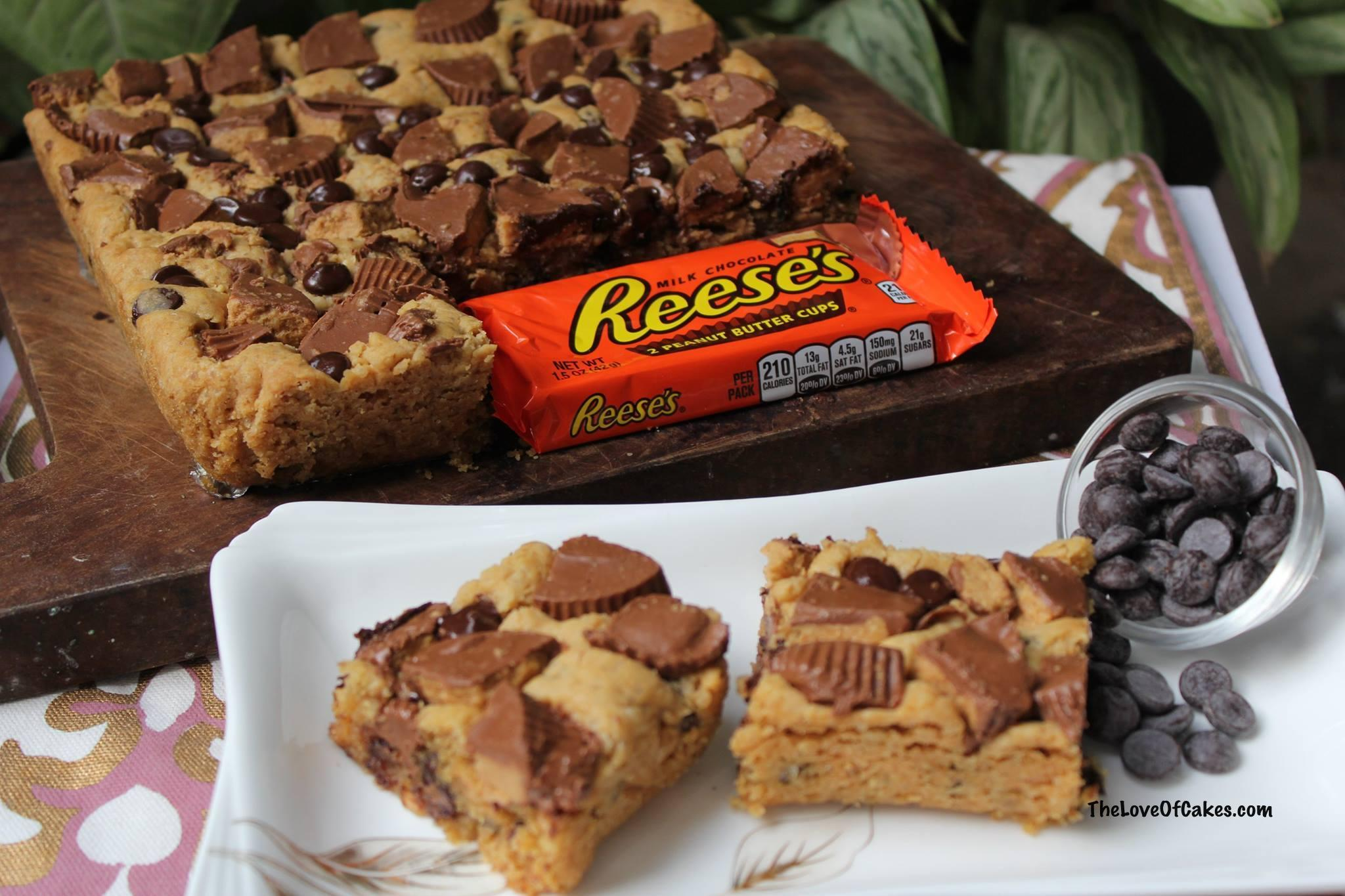 reeses cookie bars