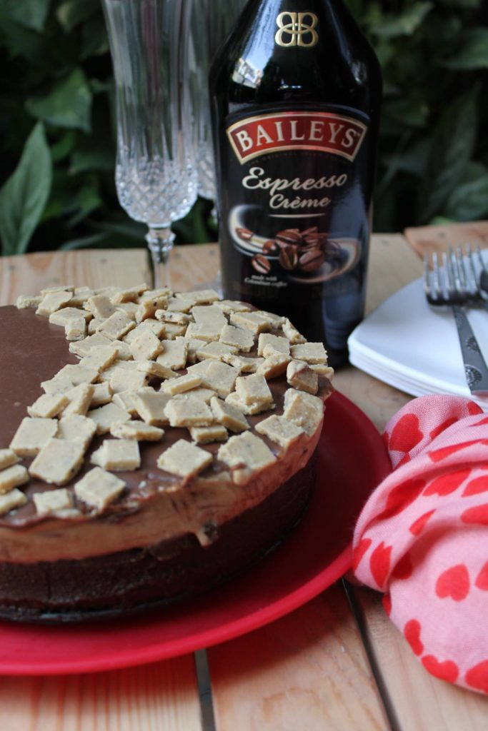 No Bake Chocolate Coffee Mousse Cake