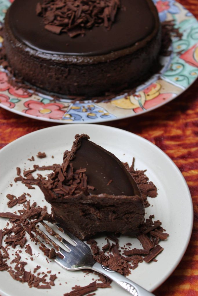 Easy Baked Chocolate Cheesecake