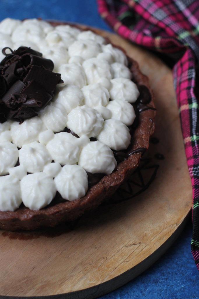 Eggless Black Forest Tart
