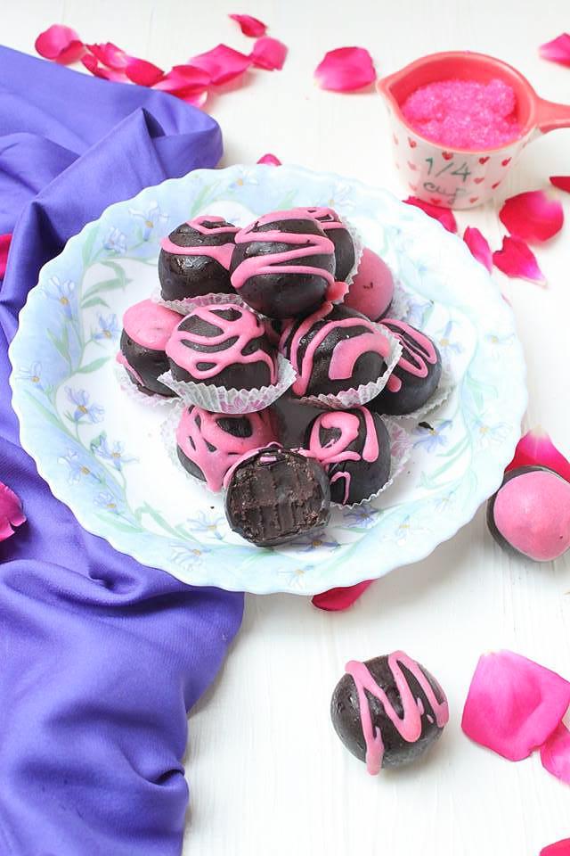 Chocolate and Rose Truffles
