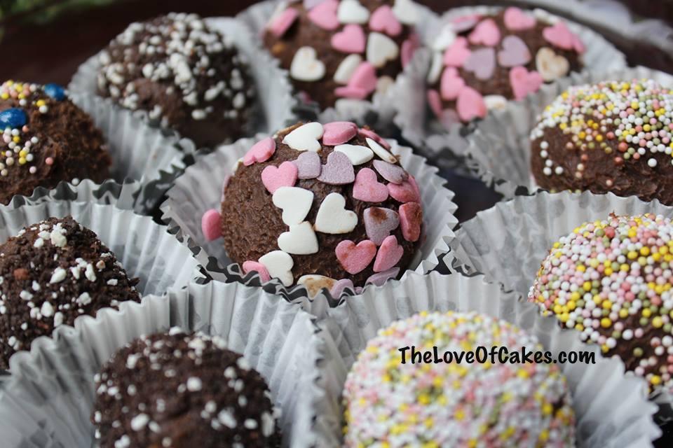 Chocolate and cream cheese truffles