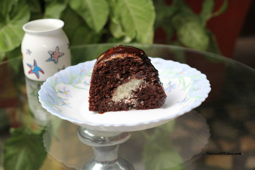 Chocolate Cake with coconut filling