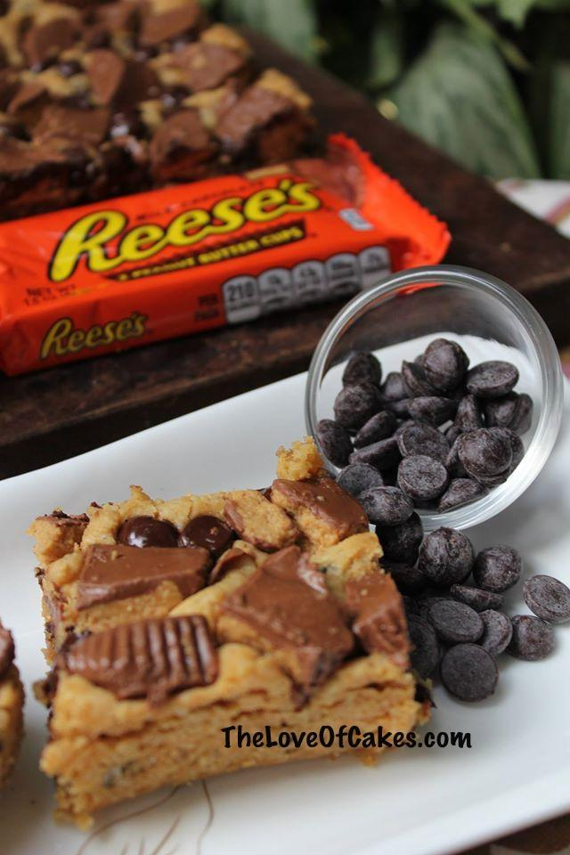 reeses cookie bars