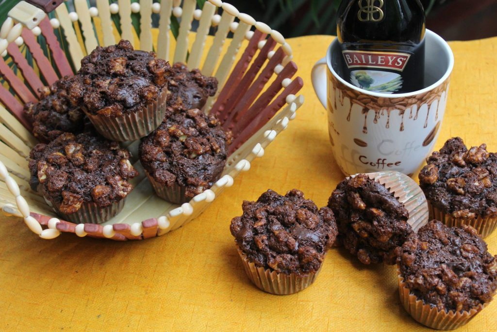 Bailey's Coffee Streusel Muffins