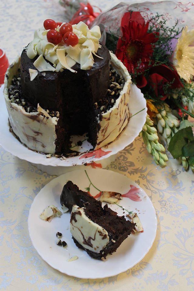 Drunk Chocolate Cherry Cake