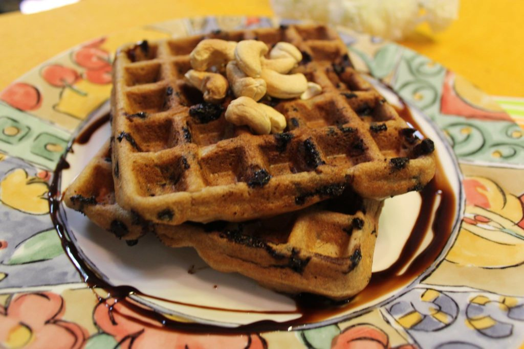 Banana Chocolate Chip Waffles