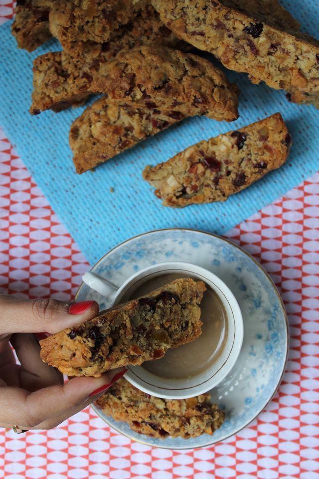 Fruitcake Biscotti