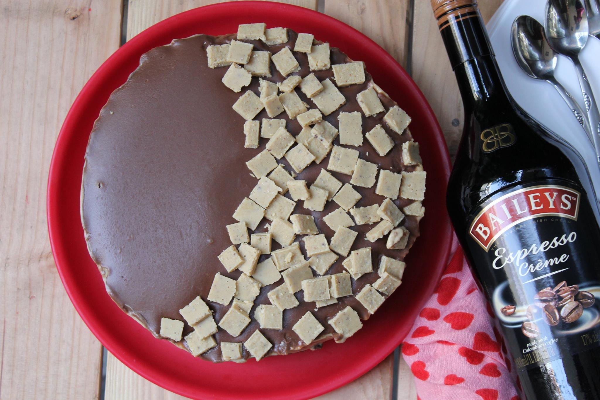 No Bake Chocolate Coffee Mousse Cake