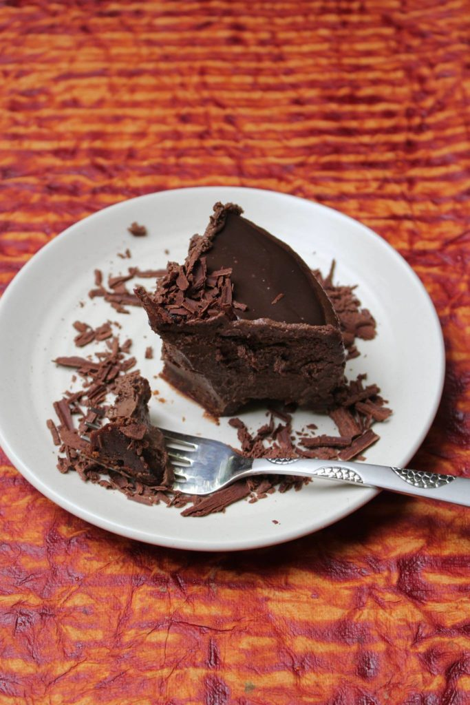 Easy Baked Chocolate Cheesecake