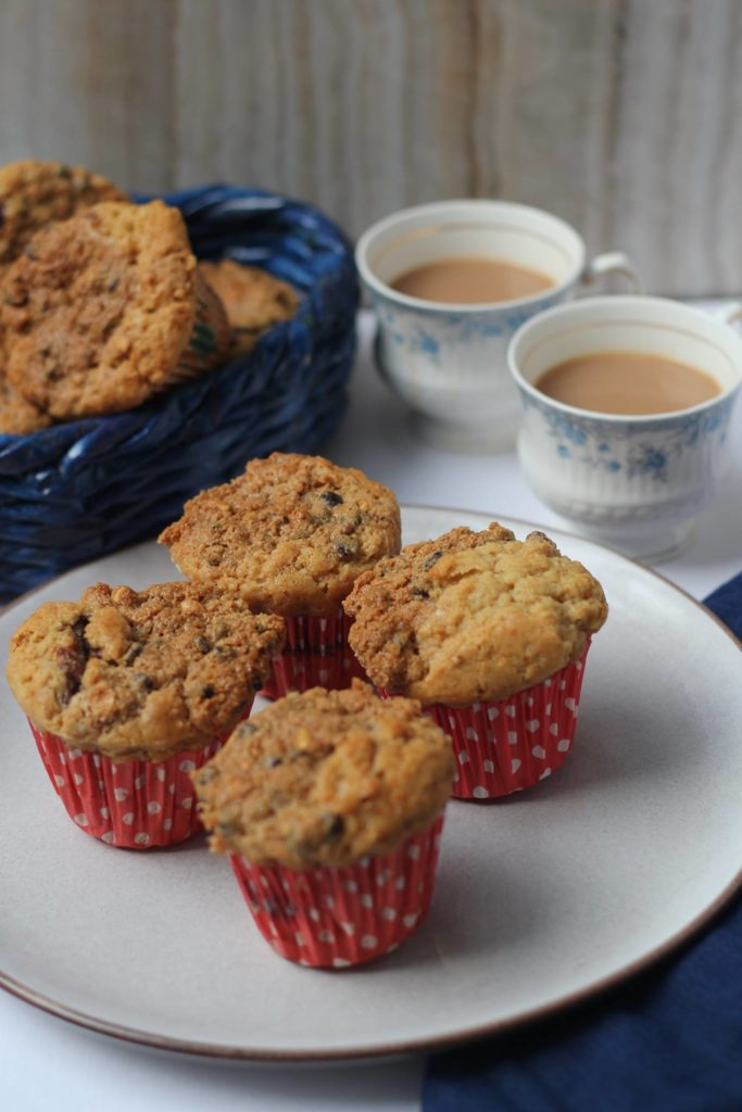 Peanut Butter Muffins with Oat Streusel and Nutella Filling