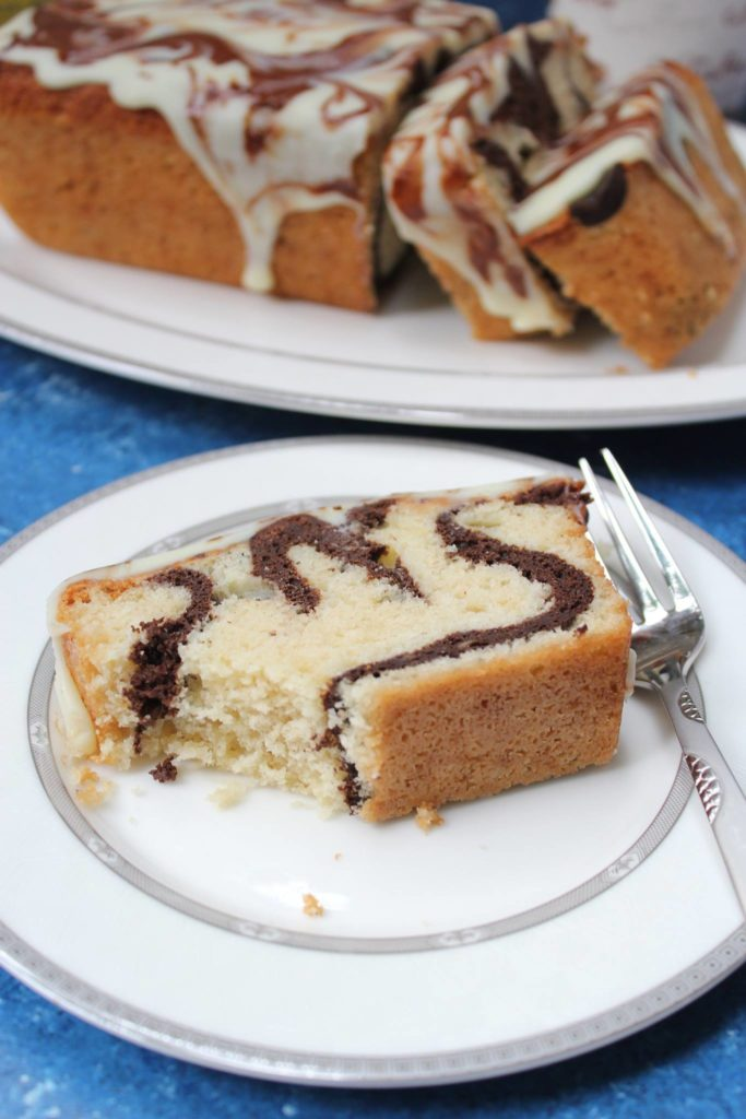Buttery soft Marble Loaf cake recipe