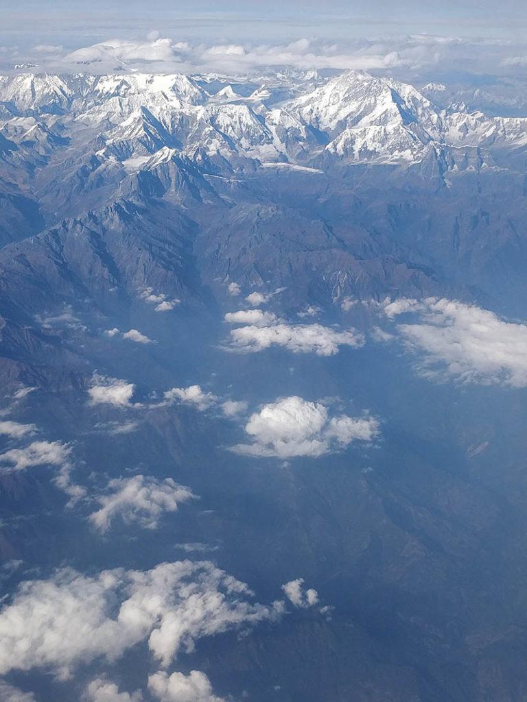 View on flight to bhutan