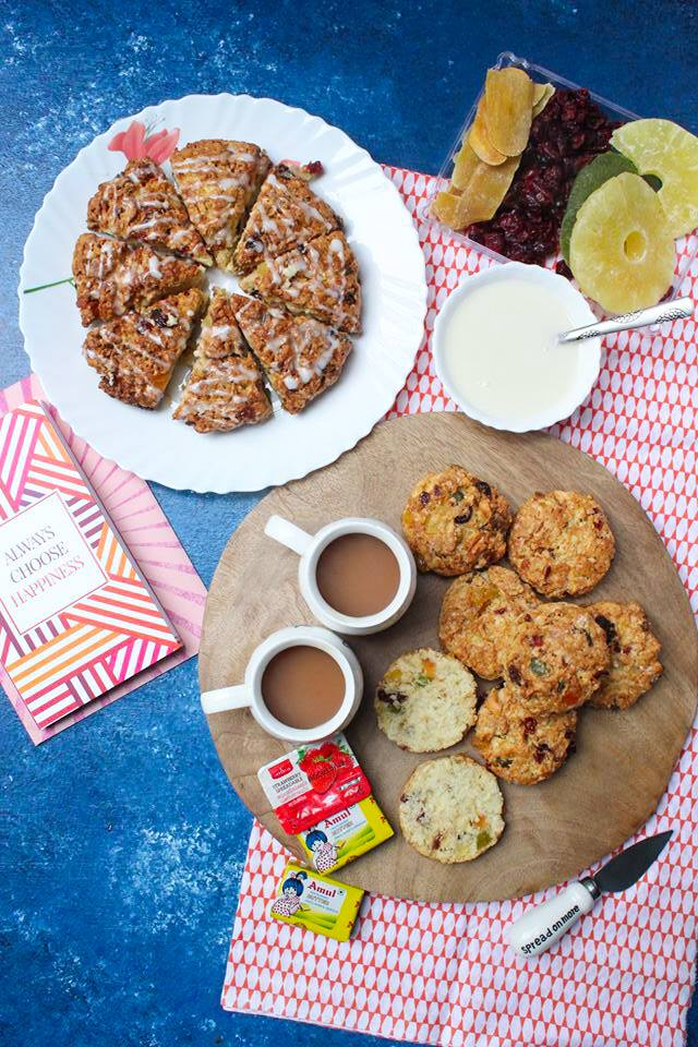 Fruit Scones with dried fruits and nuts